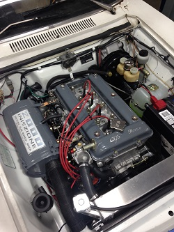 Patrick Suyama's 74 GTV restored engine bay